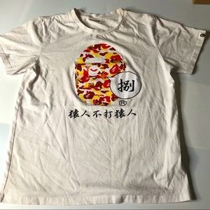 Bape Camo Ape Head Tokyo Mens Large White T-Shirt